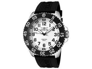 Invicta 1101 Luminary White Dial Rubber Strap Watch