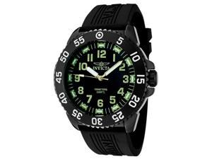 Invicta 1102 Luminary Black Dial Rubber Strap Watch
