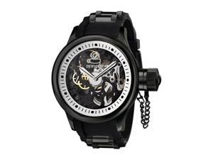 Invicta Men's Russian Diver Mechanical Black Polyurethane and Black IP Stainless
