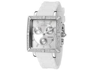 Invicta Women's Ceramic Chronograph Silver Dial White Ceramic