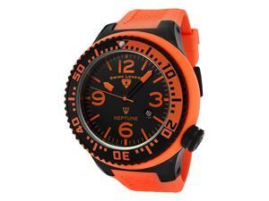 SWISS LEGEND Men's Neptune Orange Dial Orange Rubber
