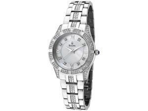 Bulova Ladies Swarovski Crystal Bracelet Mother of Pearl Dial Watch 96L116