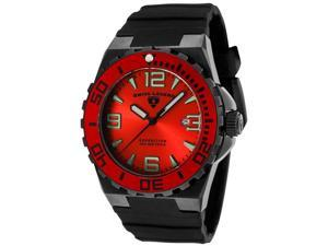 SWISS LEGEND Men's Expedition Red Bezel Black Silicone