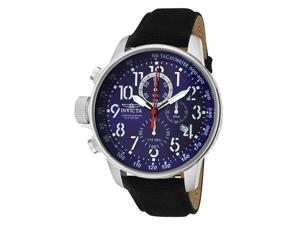 Invicta Force Men's Blue Dial Black Riffle Chronograph Watch