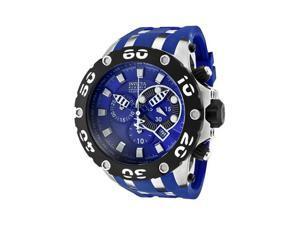 Invicta Men's Reserve Chronograph Blue Dial Blue Polyurethane