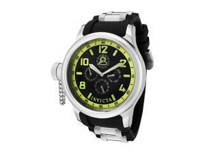 Invicta Men's Russian Diver Chronograph Black Dial Black Polyurethane