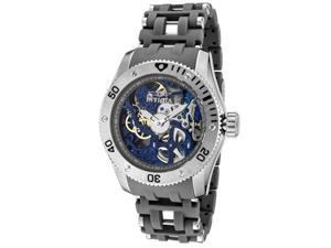 nvicta Men's Sea Spider Mechanical Blue Skeletionized Dial Stainless Steel & Gre