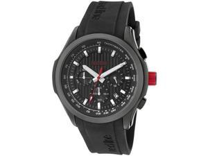 Red Line Men's Starter Chronograph Black Textured Dial Black Silicone