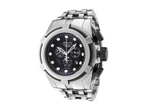 Invicta Men's Reserve Chronograph Black MOP/Black Dial Stainless Steel