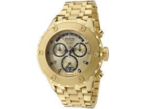 Invicta Men's Reserve Chronograph Gold Dial 18K Gold Plated Stainless Steel