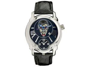 Croton Men's Daredevil Vampire Dial Dual Time Alligator Strap