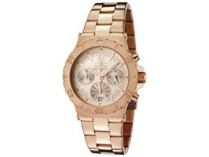 nvicta Men's Specialty Chronograph Rose Dial 18K Rose Gold Plated Stainless Stee