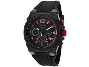 Red Line Activator 50032 Men's Black Textured Dial Silicone Chronograph Watch