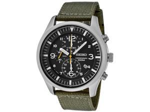 Seiko Men's Chronograph Green Fabric