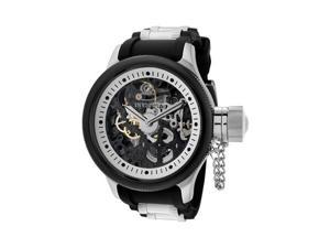 nvicta Men's Russian Diver Mechanical Skeletonized See Thru Black/Silver Dial Bl