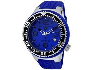 SWISS LEGEND Men's Neptune Blue Dial Blue Silicone