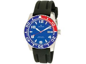 Croton Men's Aquamatic Dark Blue Dial Black Rubber