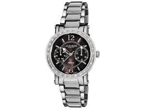 Akribos XXIV Women's Diamond Swiss Steel Day/ Date Stainless Steel