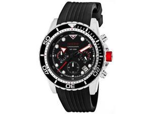 Red Line Men's Piston Chronograph Black Dial Black Silicone