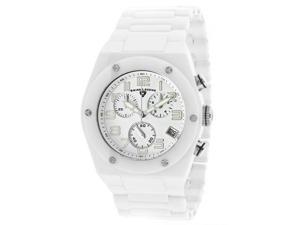SWISS LEGEND Men's Throttle Chronograph White Dial White Ceramic
