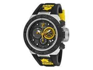 Invicta Men's Subaqua/Noma IV Chronograph Black Carbon Fiber Dial Black Silicone