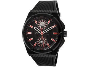 Rotary Men's Evolution TZ3 Black Dial Black IP SS Case Black Textured Rubber
