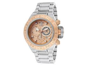 Invicta Men's Subaqua/Noma IV Chronograph Rose Gold Textured Dial Stainless Steel
