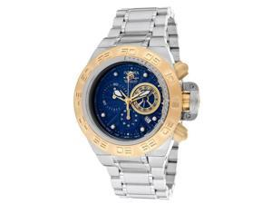 Invicta Men's Subaqua/Noma IV Chronograph Blue Textured Dial Stainless Steel