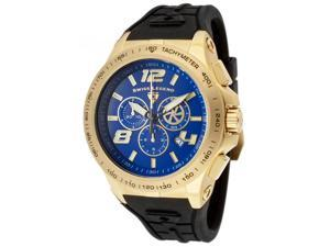 SWISS LEGEND Men's Sprint Racer Chronograph Blue Dial Black Silicone