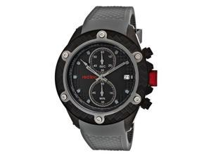 Red Line Men's Carbon Brake Chronograph Black Dial Grey Silicone