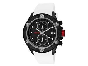 Red Line Men's Carbon Brake Chronograph Black Dial White Silicone