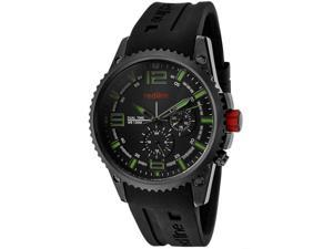 Red Line Men's Boost Dual Time Black Dial Black Silicone