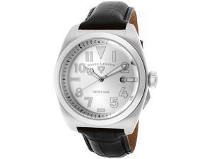 SWISS LEGEND Men's Heritage Silver Dial Black Genuine Leather