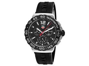 Tag Heuer Formula 1 Chronograph Black Rubber Mens Watch CAU1110.FT6024