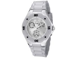 Invicta Women's Angel Silver Dial Gray Silicone