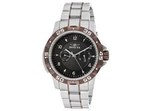 Invicta Men's Specialty Black Textured Dial Stainless Steel