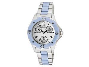 Invicta Women's Angel White Dial Blue Ceramic/Stainless Steel