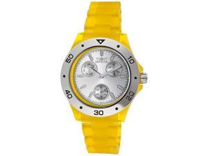 Invicta Women's Silver Dial Yellow Transparent Plastic