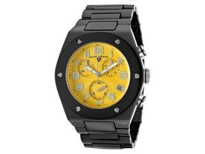 SWISS LEGEND Men's Throttle Chronograph Yellow Dial Black Ceramic