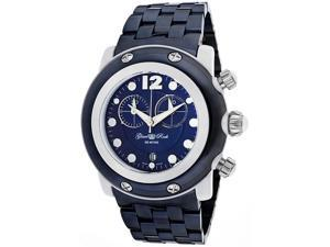 lam Rock Women's Miami Beach Chronograph Blue Dial Blue Ion Plated Stainless Ste