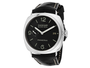 Panerai Men's Radiomir/Black Seal Automatic Black Dial Black Genuine Alligator