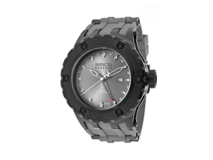 Invicta Men's Subaqua/Reserve GMT Grey Dial Grey Rubber