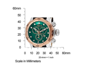 Invicta 10812 Men's Reserve Venom Mid-Size Rose Gold Tone Bezel Green Textured D