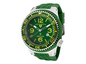 SWISS LEGEND Men's Neptune Sea Green Dial Sea Green Silicone