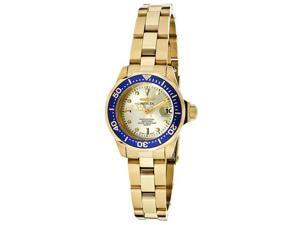 Invicta Women's Pro Diver Gold Dial 18K Gold Tone Stainless Steel