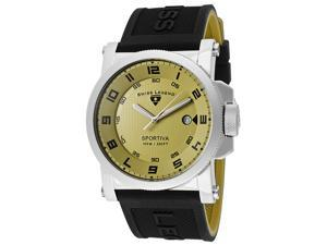 SWISS LEGEND Men's Sportiva Olive Green Dial w/Black Accent Black/Olive Green Sil