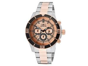 Men's Specialty Chronograph Rose Gold Tone Dial 18k Rose Gold Plated & Stainless Steel
