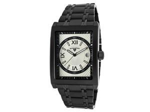 SWISS LEGEND Men's Limousine Silver Dial Black IP Stainless Steel