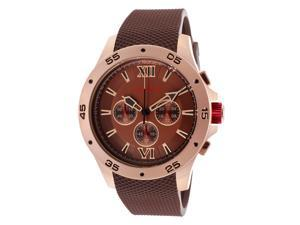 Men's Spark Chronograph Brown Dial Brown Rubber
