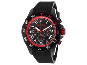 Red Line Men's Tracker Chronograph Black Dial Black Rubber